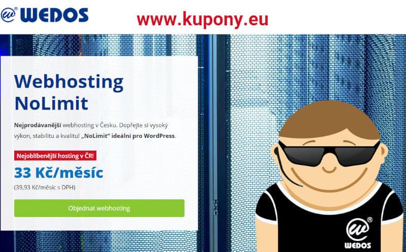 Wedos webhosting NoLimit slevový kód, slevový kupon